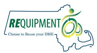 Requipment logo: Choose to reuse your D M E